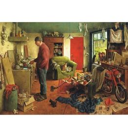 Mannenhuishouding - Wenskaart Marius van Dokkum