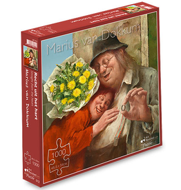 """Puzzel """"Recht uit het Hart"""" Marius van Dokkum 48,5x54cm / 1000 pcs"""