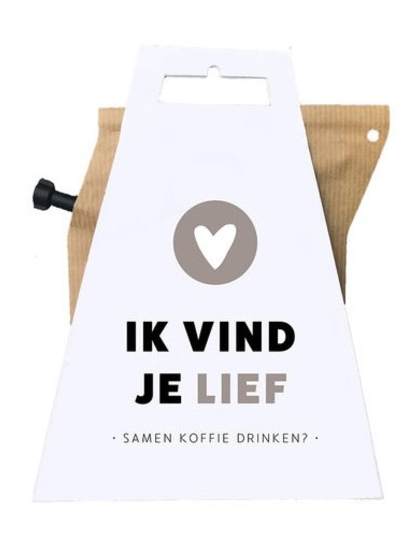 LIV 'N TASTE Ik vind je Lief, Samen Koffie drinken? - Coffeebrewer Gift