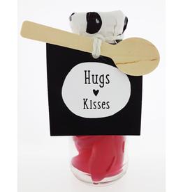 """Flesje met Snoep """"Hugs Kisses"""""""