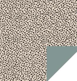 Inpakpapier Black Dots Beige Dubbelzijdig 70cmx2m