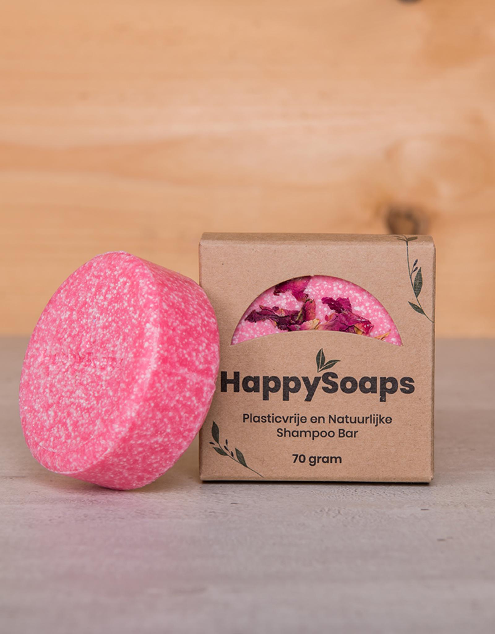 HappySoaps La Vie en Rose Shampoo Bar 70gram - HappySoaps