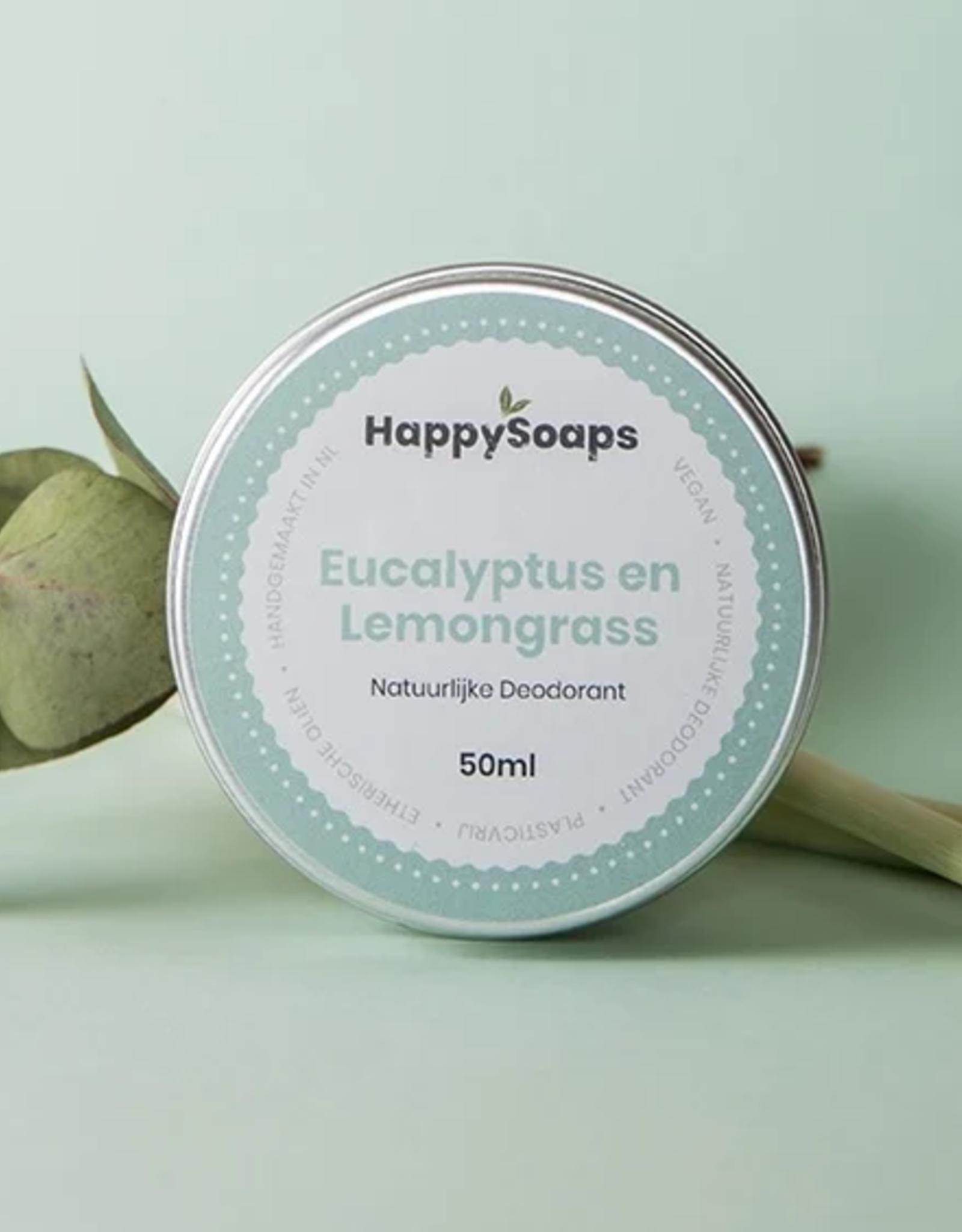 HappySoaps Deodorant Eucalyptus en Lemongrass - HappySoaps