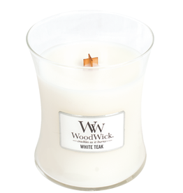 "WoodWick Kaars WoodWick ""White Teak"" medium - WoodWick"