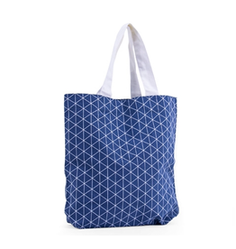 Katoenen Tas Trangle Denim Blauw 39,5x11x37,5 cm