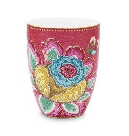 Pip Studio Drinkbeker Jambo flower Roze 300ml - Pip Studio