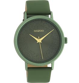 OOZOO Horloge C10582 lelie groen 42mm - OOZOO