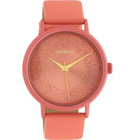 OOZOO Horloge C10580 perzik roze 42mm - OOZOO