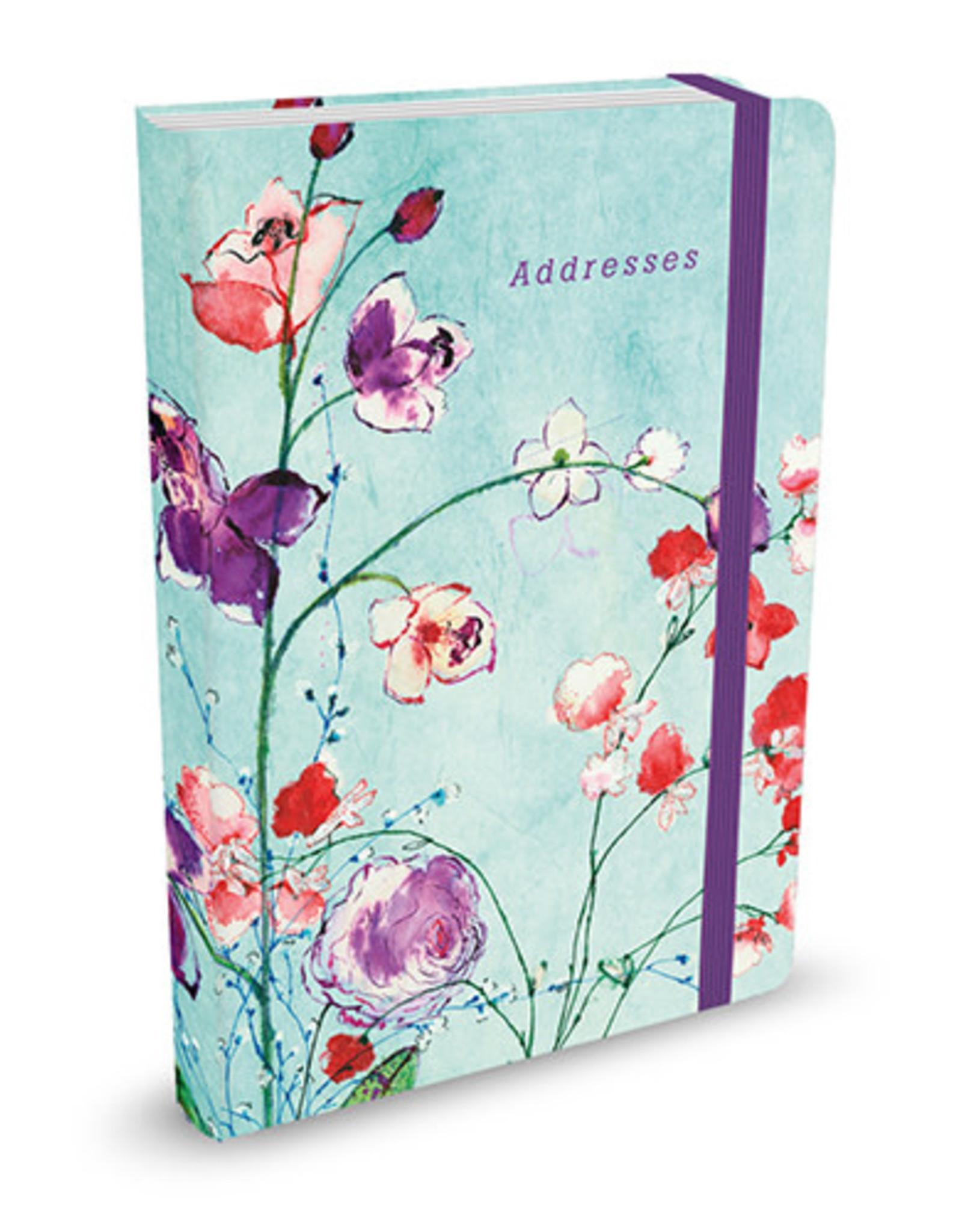 Adresboek A6 Fuchsia Blooms - Comello