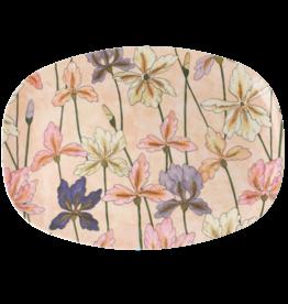 Rice Bord ovaal Melamine met Iris Print - Rice