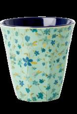 Rice Beker Melamine met Blauwe Bloemen print - Rice