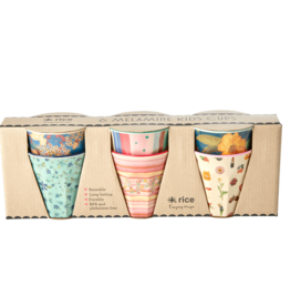 Rice Set van 6 Melamine Bekers small Believe.. - Rice