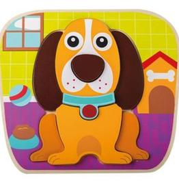 """Houten dieren puzzel """"Hond"""" +12mnd - Jouéco"""