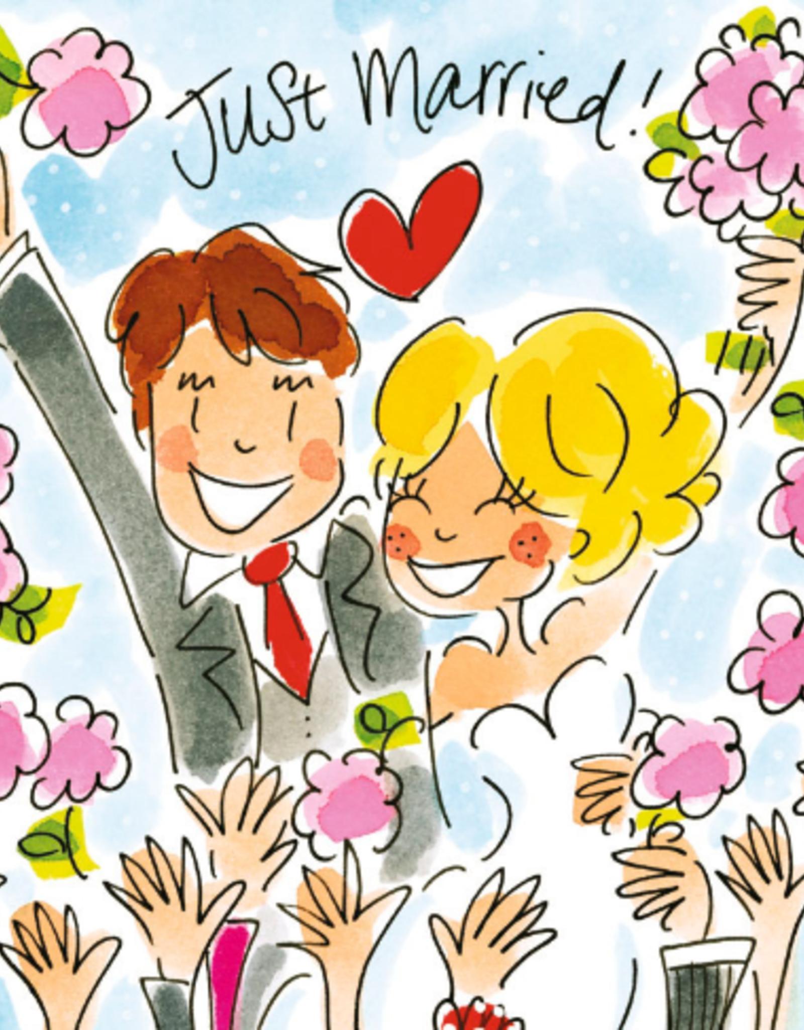 Blond Amsterdam Just Married! - Wenskaart Blond Amsterdam