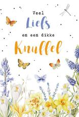 Wenskaart Groot Veel Liefs en een dikke Knuffel -  Janneke Brinkman