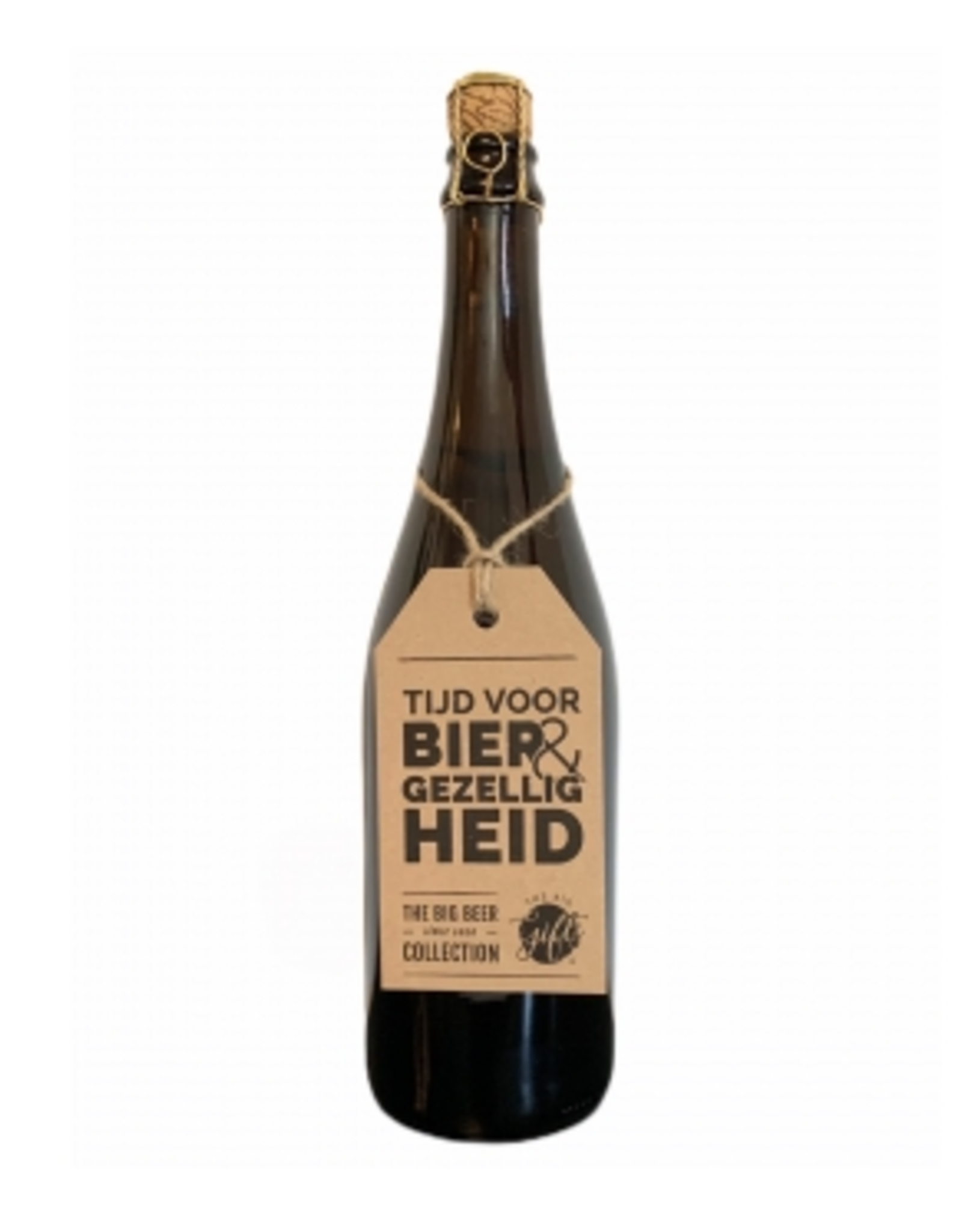 "The Big Gifts XL Bierfles ""Bier & Gezelligheid"" - The Big Gifts"
