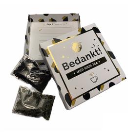 The Big Gifts Kaart en cadeau in een luxe doosje - Mini high tea - Bedankt - The Big Gifts