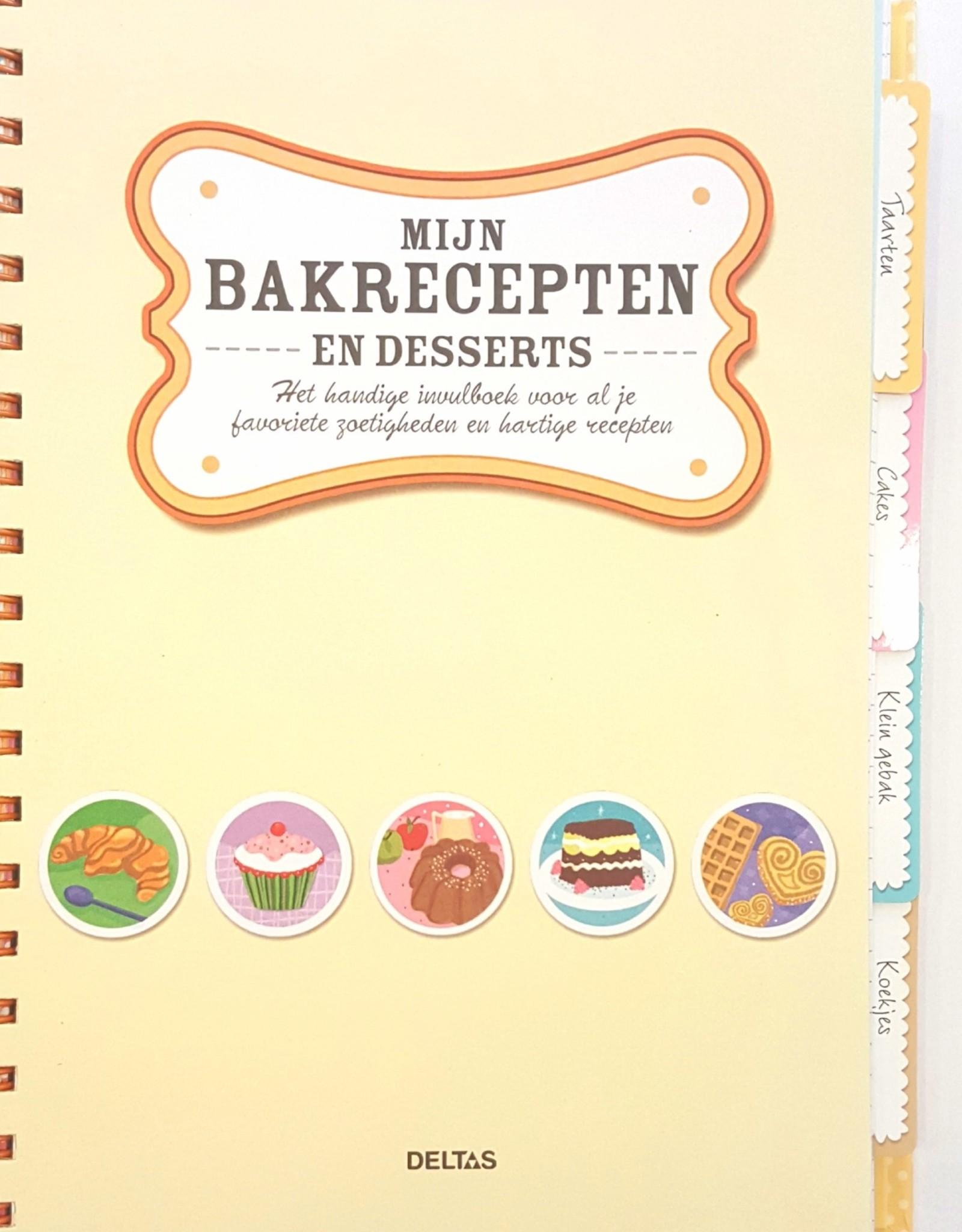 """Deltas Mijn Bakrecepten en Desserts """"invulboek"""" - Deltas"""