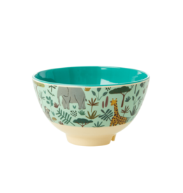 Rice Kom Melamine Small met Jungle print groen  - Rice