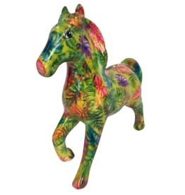 """Pomme-Pidou Spaarpot Paard """"Lucky"""" met palmbladeren - Pomme-Pidou"""