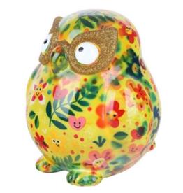 "Pomme-Pidou Spaarpot Uil ""Errol"" M geel multicolor - Pomme-Pidou"