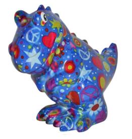 """Pomme-Pidou Spaarpot T-Rex """"Tito"""" blauw multicolor - Pomme Pidou"""