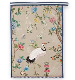 Pip Studio Theedoek Blushing Birds Khaki Print 50x70cm - Pip Studio