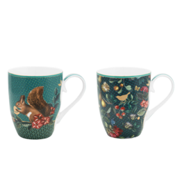 Pip Studio Set van 2 grote Mokken Winter Wonderland 350ml - Pip Studio