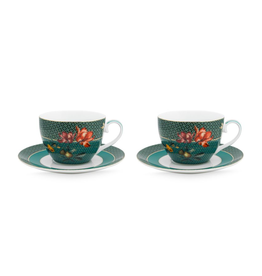 Pip Studio Set van 2 Cappuccino Kop & Schotels Winter Wonderland  280ml - Pip Studio