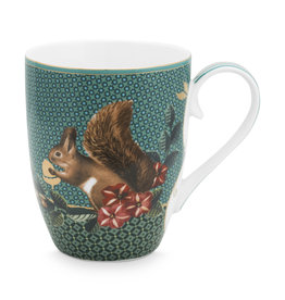 Pip Studio Mok groot Winter Wonderland groen 350ml - Pip Studio