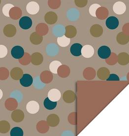 Inpakpapier Big Confetti Dubbelzijdig 70cmx2m