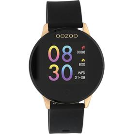 OOZOO Smartwatch Q00114 43mm Zwart/Rosé - OOZOO