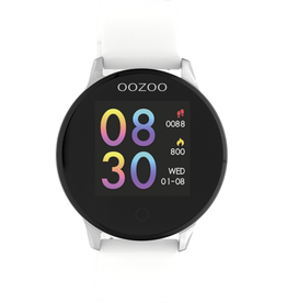 OOZOO Smartwatch Q00110 43mm Wit/Zilver - OOZOO