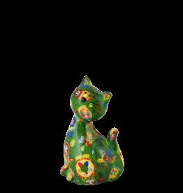 "Pomme-Pidou Spaarpot Kat ""Caramel"" S groen - Pomme-Pidou"