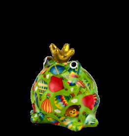 """Pomme-Pidou Spaarpot Kikker """"Freddy"""" S groen met luchtballonnen - Pomme-Pidou"""