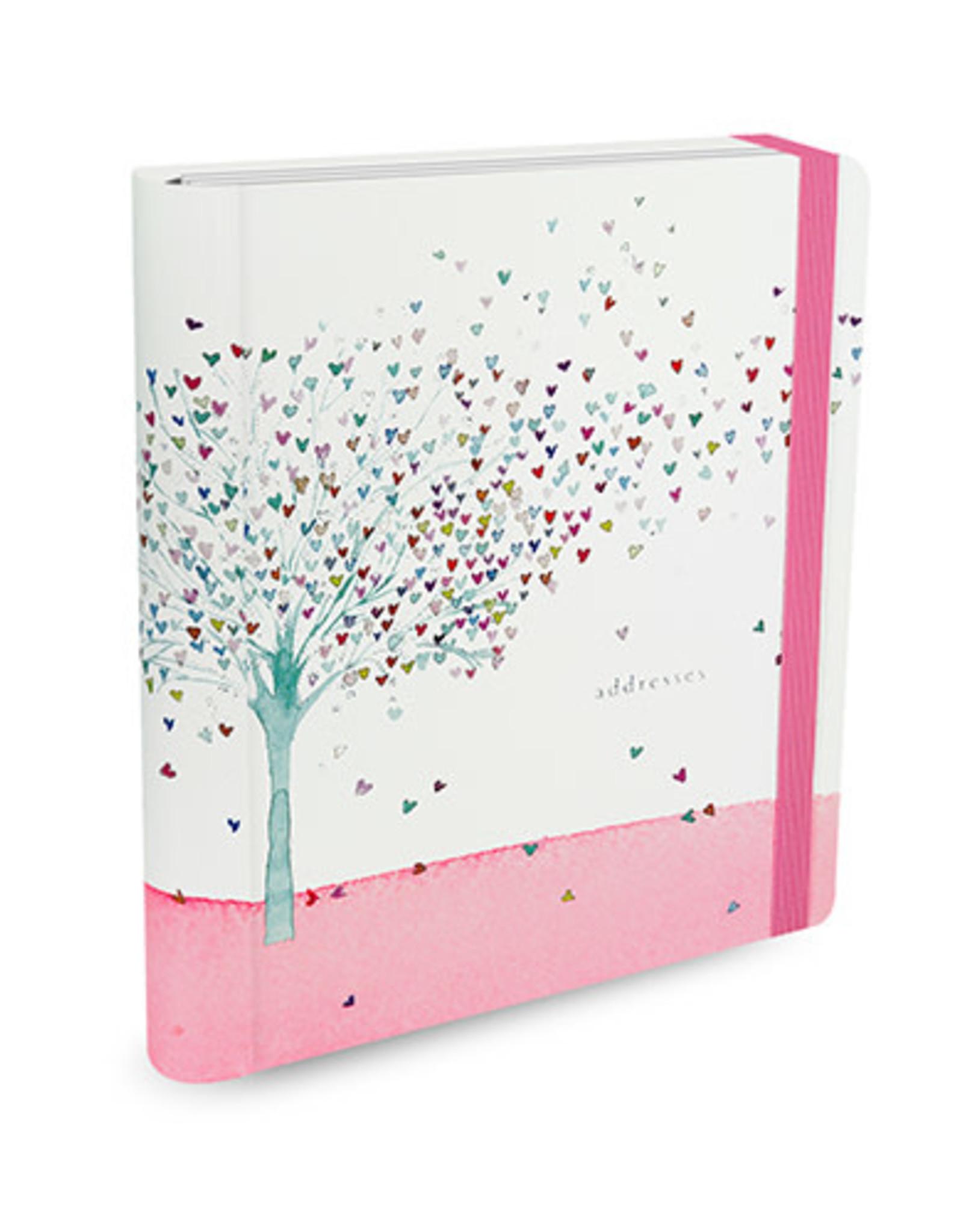 Adresboek A5 Peter Pauper Tree of hearts - Comello