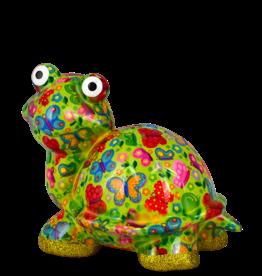 """Pomme-Pidou Spaarpot Schildpad """"Zeppy"""" M groen met vlinders - Pomme-Pidou"""