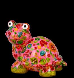 """Pomme-Pidou Spaarpot Schildpad """"Zeppy"""" M roze met paddestoelen - Pomme-Pidou"""