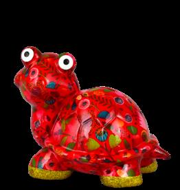 """Pomme-Pidou Spaarpot Schildpad """"Zeppy"""" M rood met bloemen - Pomme-Pidou"""