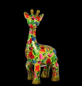 "Pomme-Pidou Spaarpot Giraffe ""Celeste"" M groen met vlinders - Pomme-Pidou"