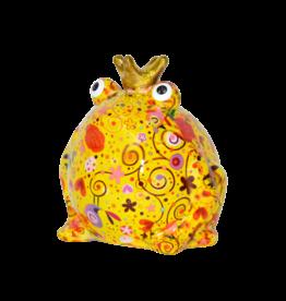 """Pomme-Pidou Spaarpot Kikker """"Freddy"""" M geel multicolor - Pomme-Pidou"""