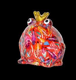 "Pomme-Pidou Spaarpot Kikker ""Freddy"" M rood met veren - Pomme-Pidou"