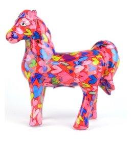 """Pomme-Pidou Spaarpot Paard """"Joy"""" roze met hartjes - Pomme-Pidou"""
