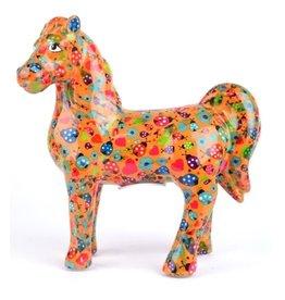 """Pomme-Pidou Spaarpot Paard """"Joy"""" oranje met lieveheersbeestjes - Pomme-Pidou"""