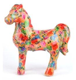 "Pomme-Pidou Spaarpot Paard ""Joy"" oranje met vlinders - Pomme-Pidou"