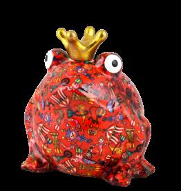 """Pomme-Pidou Spaarpot Kikker """"Freddy"""" L rood - Pomme-Pidou"""