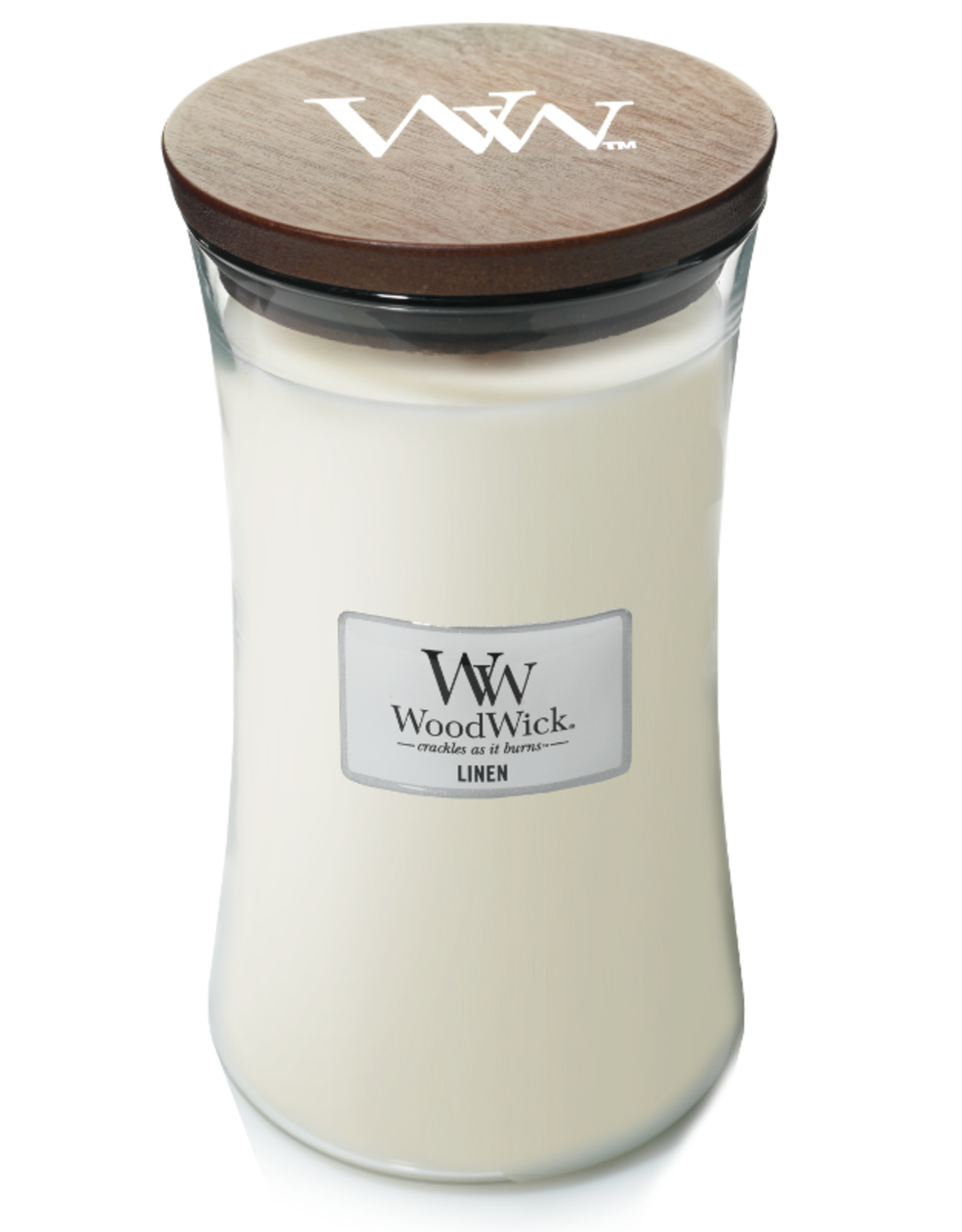 """WoodWick Kaars WoodWick """"Linen"""" Large - WoodWick"""