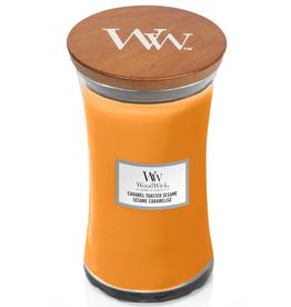"WoodWick Kaars WoodWick ""Caramel Toasted Sesame"" Large - WoodWick"