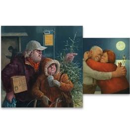 Kerstkaarten Volle Liefde / De Bus 2x5stuks - Marius van Dokkum