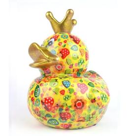 """Pomme-Pidou Spaarpot Eend """"Ducky"""" L geel - Pomme-Pidou"""